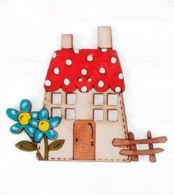 Botón de madera pintada 9